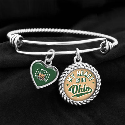 My Heart Is In Ohio Bobcats Charm Bracelet