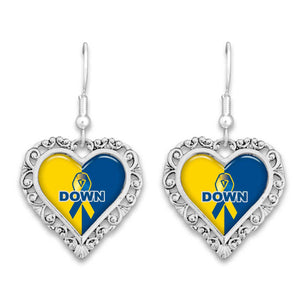 Down Syndrome Advocacy Lace Trim Earrings
