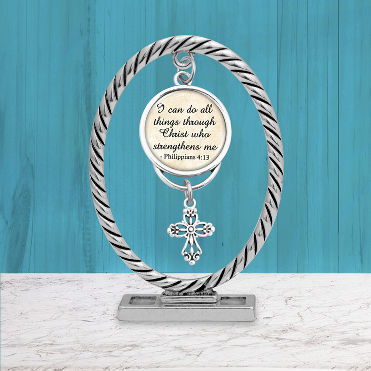 I Can Do All Things Philippians 4:13 Dangle Charm Keepsake Paperweight