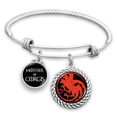 Mother Of Corgis Sigil Charm Bracelet