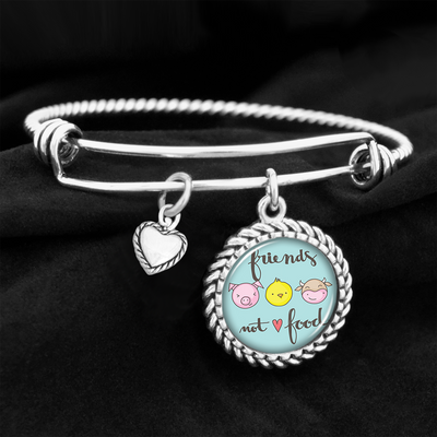 Friends Not Food Charm Bracelet