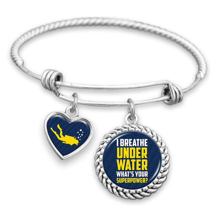 I Breathe Underwater, What's Your Superpower Charm Bracelet