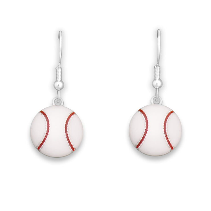 Baseball Charm Earrings