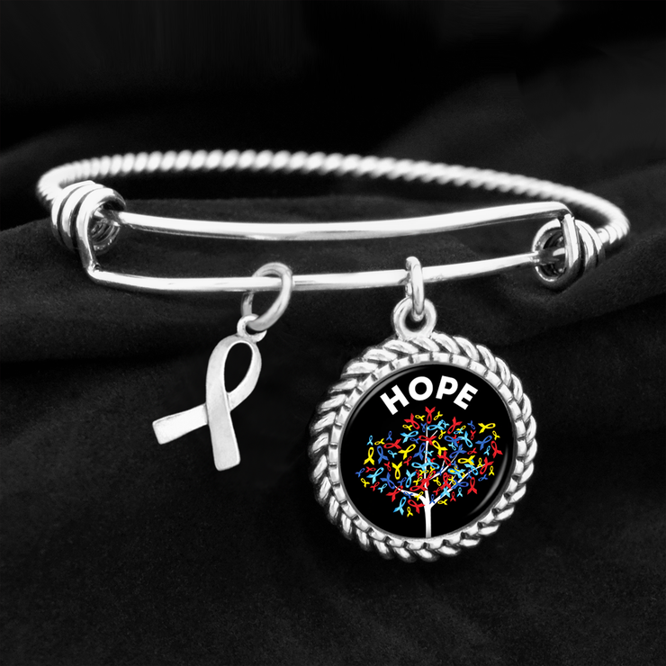 Hope Tree Autism Awareness Charm Bracelet