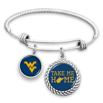 West Virginia Mountaineers Home Charm Bracelet