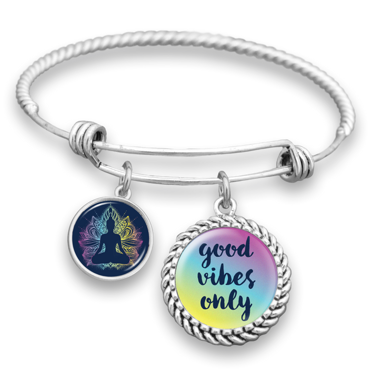 Good Vibes Only Charm Bracelet