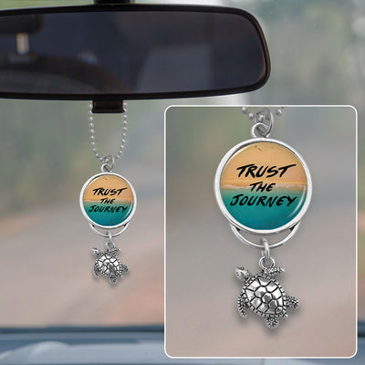 Trust The Journey Sea Turtle Beach Rearview Mirror Charm
