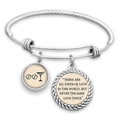 There Are All Kinds Of Love In This World, But Never The Same Love Twice Charm Bracelet