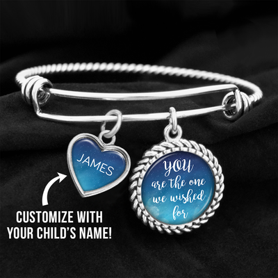 Customizable You Are The One We Wished For Charm Bracelet