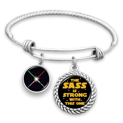 The Sass Is Strong With This One Charm Bracelet