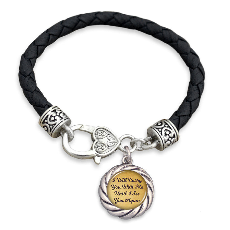 Carry You With Me Leather Toggle Bracelet