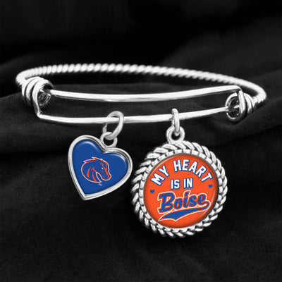 My Heart Is In Boise Broncos Charm Bracelet
