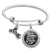 Time To Ride Motorcycle Charm Bracelet