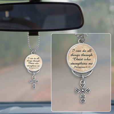 I Can Do All Things Philippians 4:13 Rearview Mirror Charm