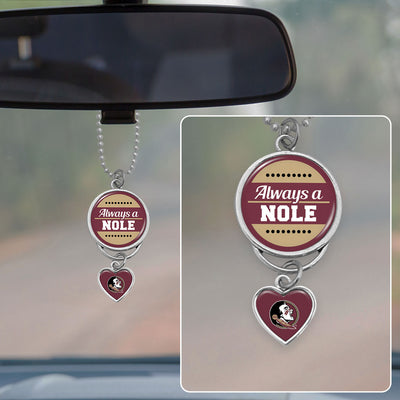 Florida State Always A Nole Rearview Mirror Charm