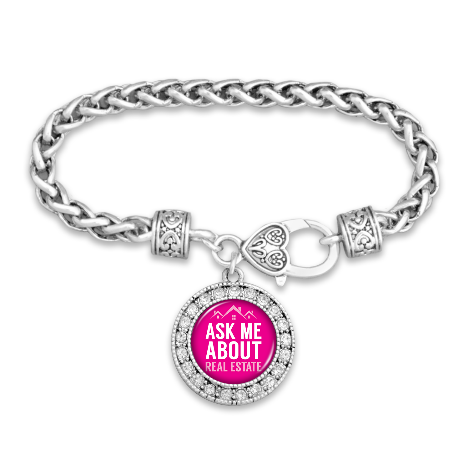 Ask Me About Real Estate Clasp Bracelet