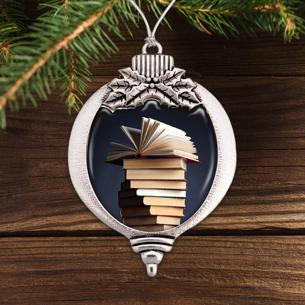Book Stack Bulb Ornament