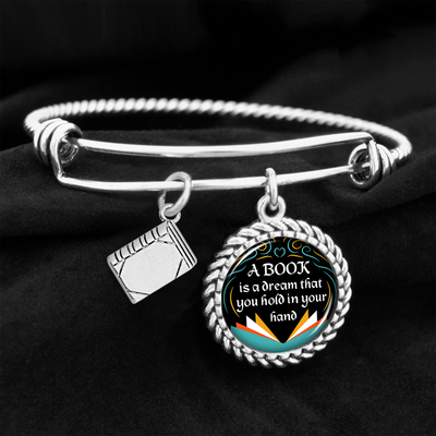 A Book Is A Dream That You Hold In Your Hand Charm Bracelet