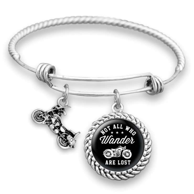 Not All Who Wander Are Lost Motorcycle Charm Bracelet