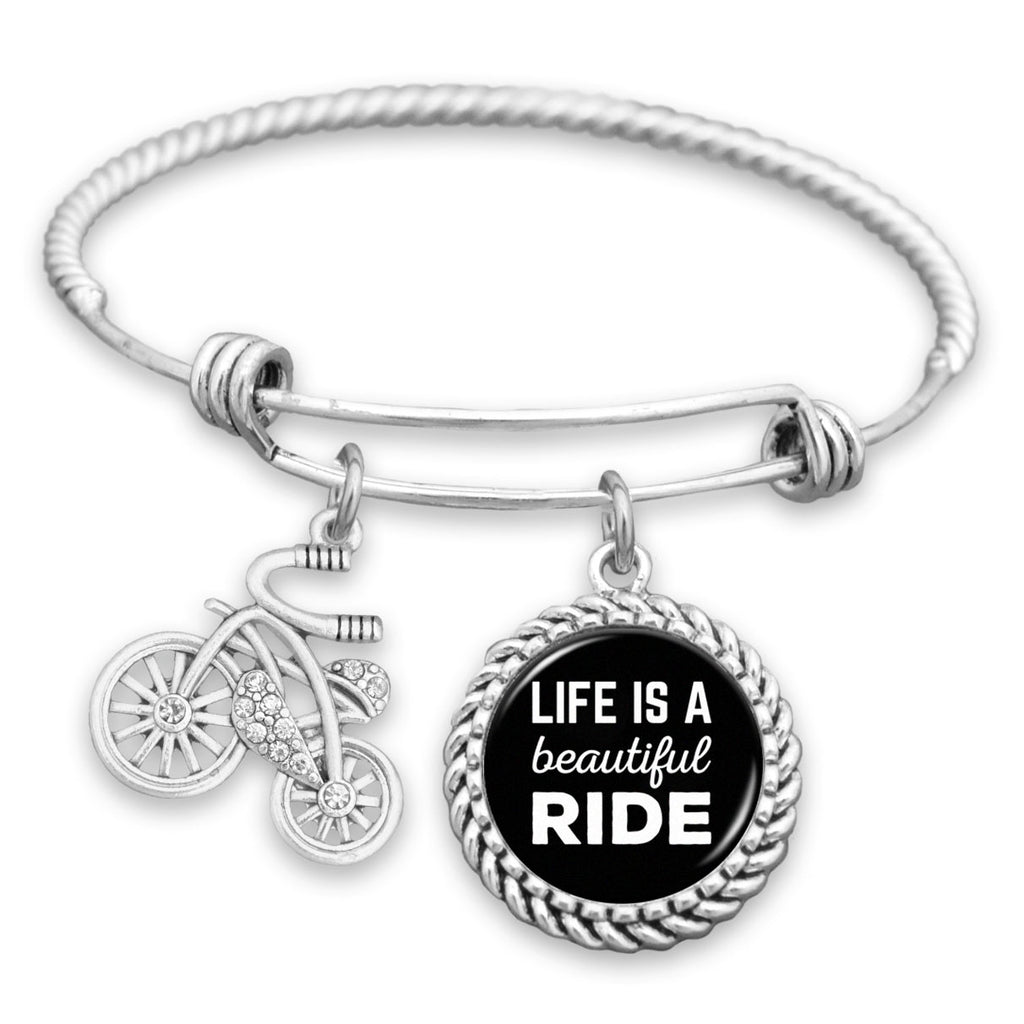 Life Is A Beautiful Ride Bicycle Charm Bracelet