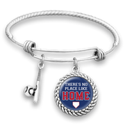 Chicago There's No Place Like Home Baseball Charm Bracelet