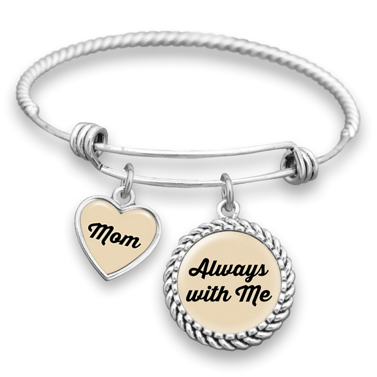 Always With Me Mom Charm Bracelet