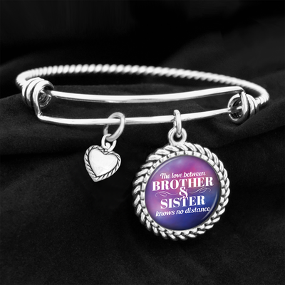 The Love Between Brother and Sister Knows No Distance Charm Bracelet