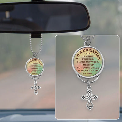 I'm A Christian Rearview Mirror Charm