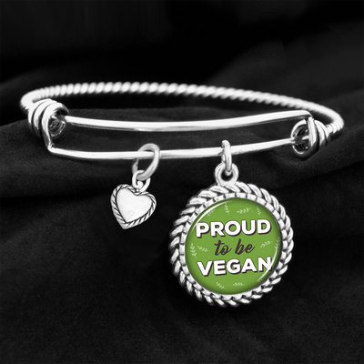 Proud To Be Vegan Charm Bracelet