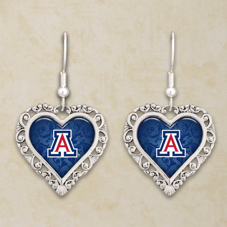 Arizona Wildcats Official Lace Trim Earrings