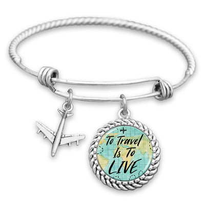 To Travel Is To Live Charm Bracelet
