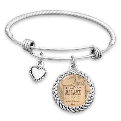 Hamlet Book Pages Charm Bracelet