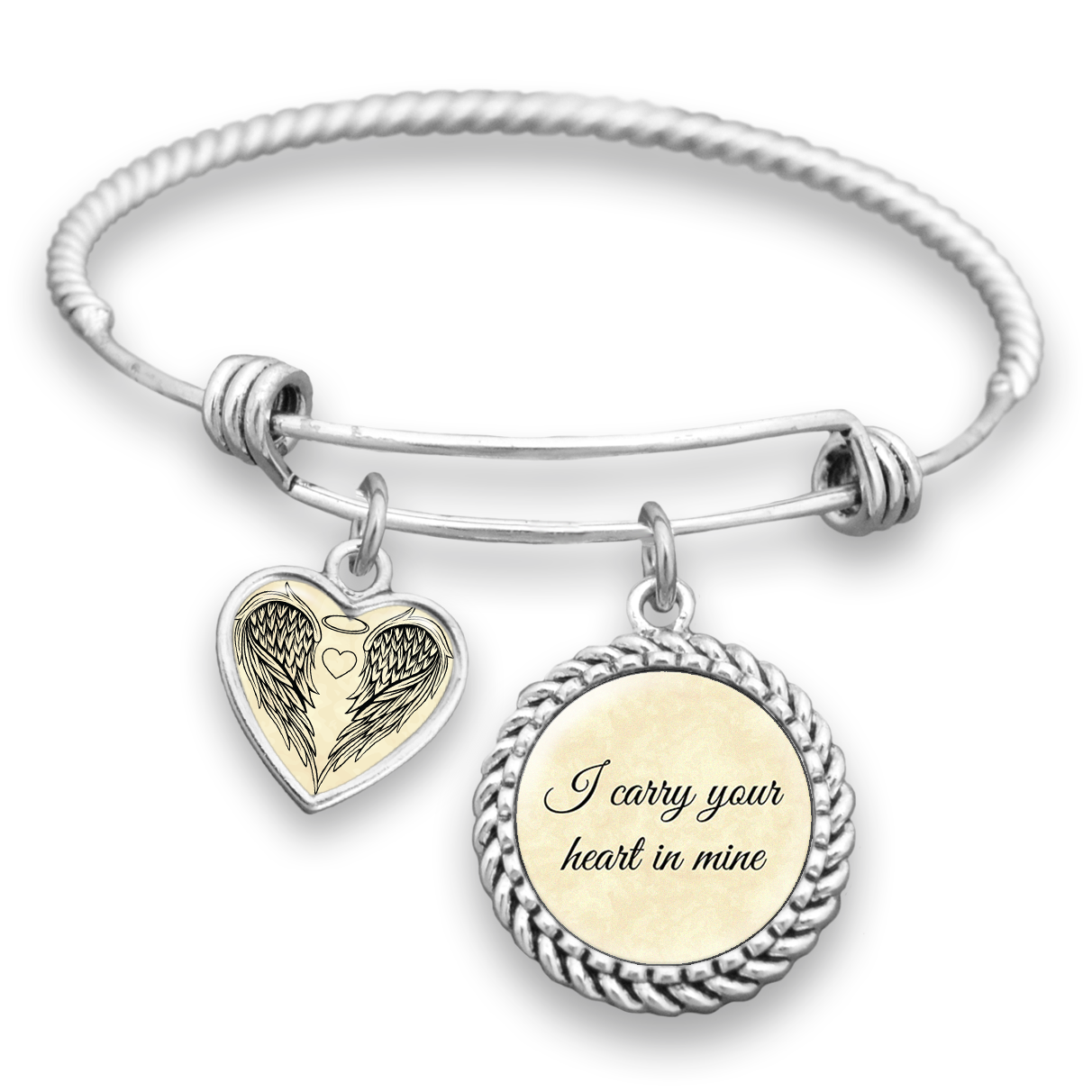 I Carry Your Heart In Mine Charm Bracelet