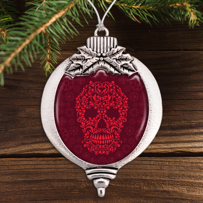 Ornamental Skull Bulb Ornament