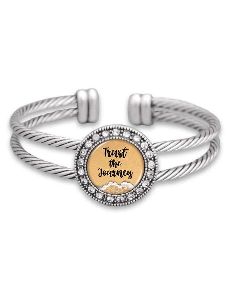 Trust The Journey Crystal Cuff Bracelet