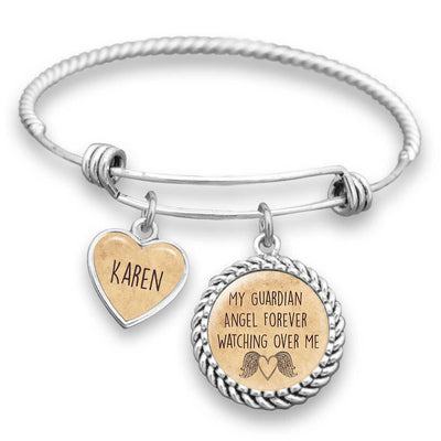 Forever Watching Over Me Personalized Name Bracelet