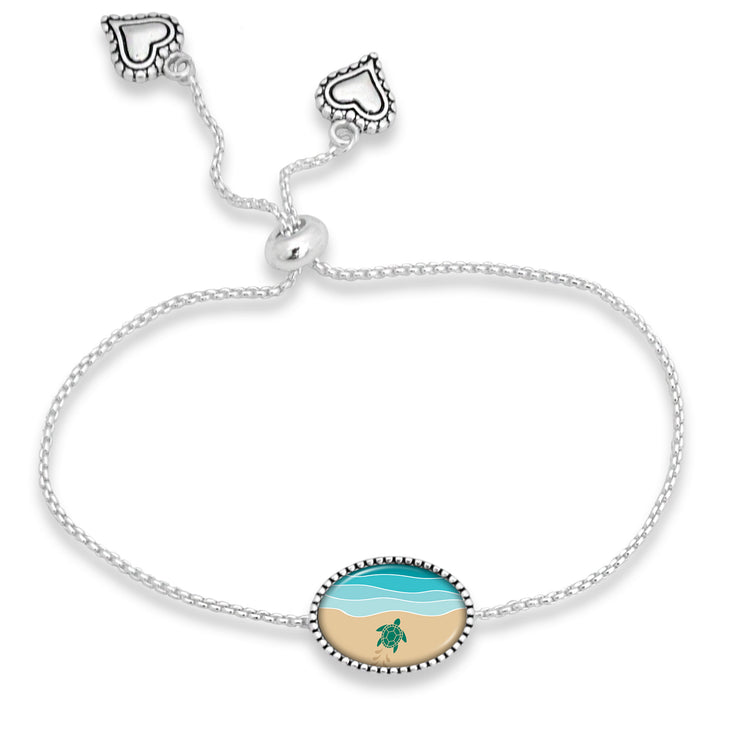 Baby Turtle Almost There Adjustable Oval Bracelet