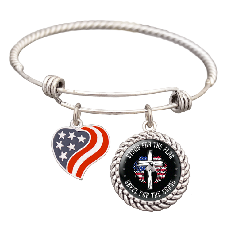 Stand For The Flag Charm Bracelet
