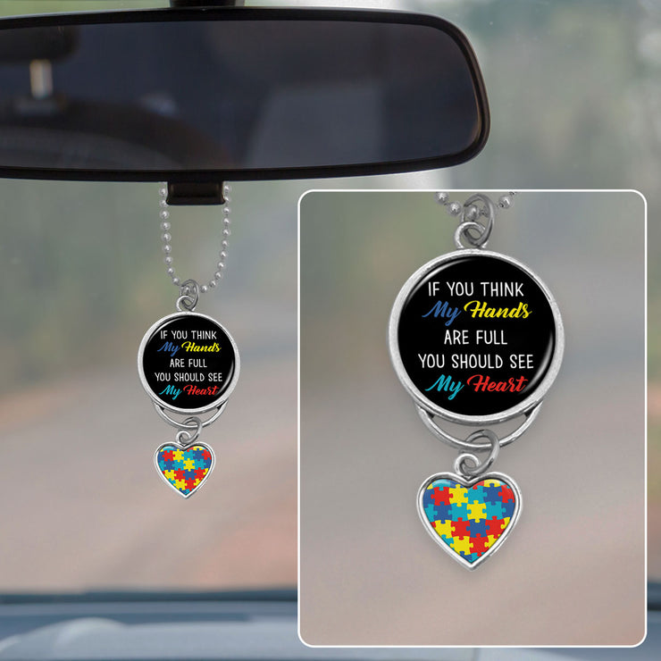 You Should See My Heart Autism Rearview Mirror Charm