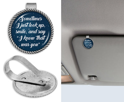 Know That Was You Night Sky Circle Auto Visor Clip