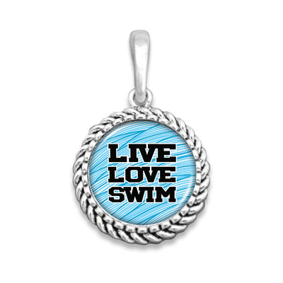 Live Love Swim Easy-O Zipper Pull Charm