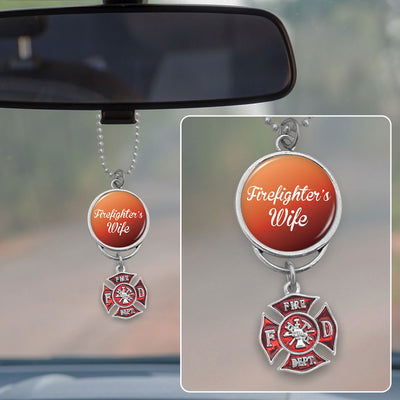 Firefighter's Wife Rearview Mirror Charm