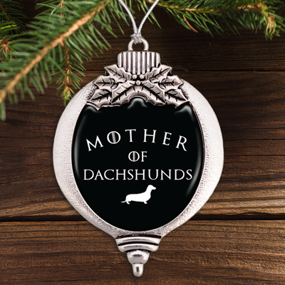 Mother Of Dachshunds Bulb Ornament