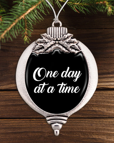 One Day At A Time Bulb Ornament