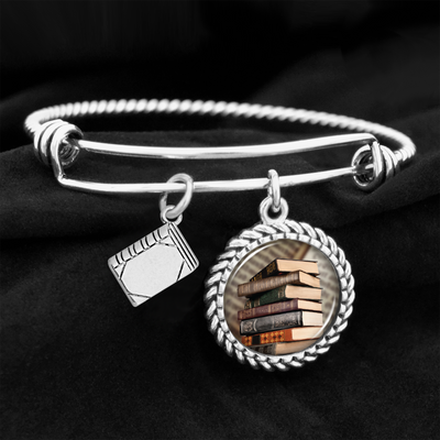 Old Books Book Charm Bracelet