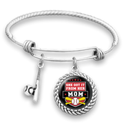 She Got It From Her Mom Baseball Charm Bracelet