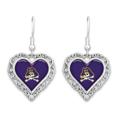 ECU Pirates Official Lace Trim Earrings