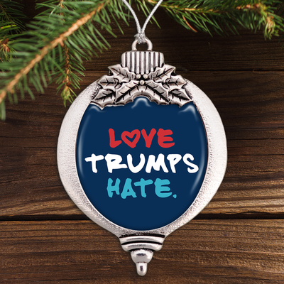 Love Trumps Hate Bulb Ornament