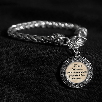 Forever Love Grandchildren Silver Braided Clasp Bracelet