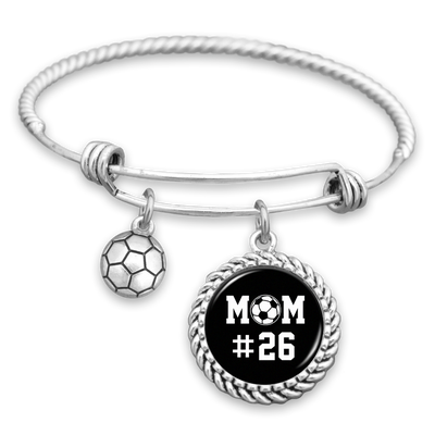 Soccer Mom Personalized Number Charm Bracelet